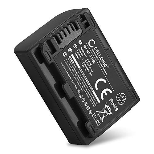 CELLONIC® Akku NP-FH40 NP-FH50 -FH60 kompatibel mit Sony A230 A290 A330 A380 A390 DSC-HX1 HX200V HX100V CX7 HDR-SR11 HDR-SR12 DCR-SR45 DCR-SR42 DCR-SX30 HDR-XR500, 700mAh Ersatzakku Batterie