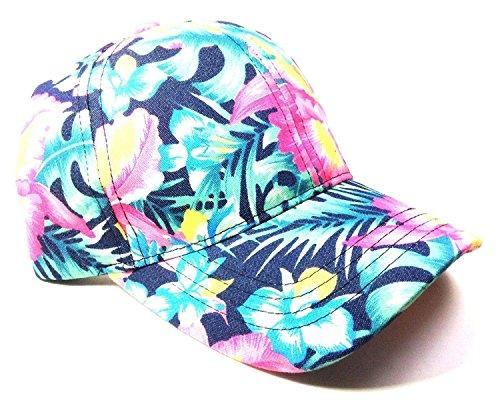 Crown Floral Print Sublimated Dad Hat (Bright Multicolor)