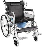 IGOSAIT Assistive Walker, Sillas de Ruedas Creativas, Multifuncional Plegable Baño Silla de Ruedas Portátil Ancianos Discapacitados Viaje Trolley Ayudas