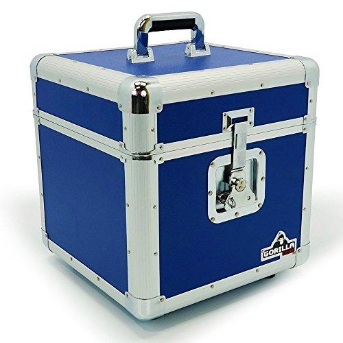 Gorilla 12'LP discos de vinilo caja almacenamiento vuelo caso azul mantiene 100pcs Inc garantía de por vida
