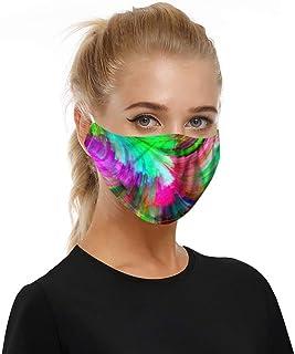 Changeshopping Cool Print Face Earloop Mask Rave Bandana Neck Gaiter Summer Dustproof UV Protection Reusable Washable