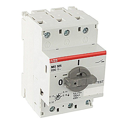 ABB MS325-12.5 Manual Motor Starter, 12.5 Rated Amps, 9.0-12.5 Amps Range