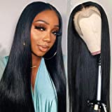 Flady Lace Front Human Hair Wigs for Black Women Bleached Knots 150% Denisty 9A Brazilian Straight Lace Front Wigs with Baby Hair Pre Plucked Hairline 22inch