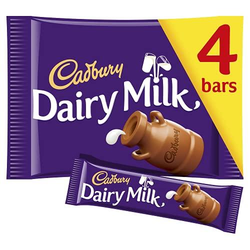 Cadbury Vollmlich Riegel - Snacks für unterwegs - leckere englische Schokolade, 4er Pack (4 x 36 g)