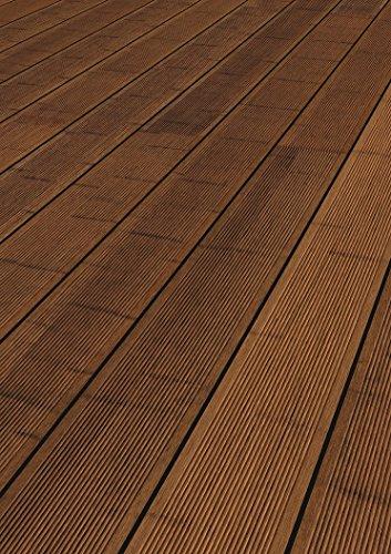 Terrassendiele Bambus | CoBAM Standard SELECT | seitlich genutet | Nut-Riffel