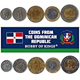 Hobby of Kings Different Coins - Old, Collectible Dominican Republic Foreign Currency for Collecting Book - Unique, Commemorative World Money Sets - Gifts for Collectors - Collection of 5