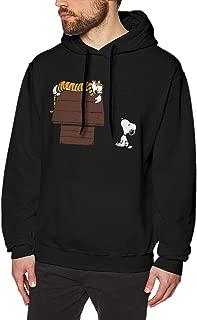 LilianR Calvin and Hobbes Mens Hoodies Sweatshirt Black