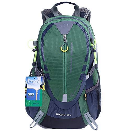 EGOGO 30L Wasserdicht Wanderrucksack Camping Rucksack mit Regenschutz Laufen Radfahren im Freien S2310 (Grün)