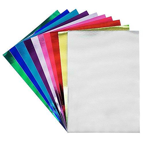 10 Bogen Bastelpapier metallic, Spiegelkarton, DIN A3, 250g/m², verschiedene Farben | Bastelkarton, Spiegelkarton | Kartengestaltung, Scrapbooking, Basteln, Geschenkanhänger, Anhänger