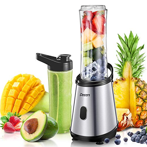 Mini Blender, Decen Blender à Smoothie, Mixeur Blender, 2 x 600 ml Bouteilles Tritan Sans BPA,...