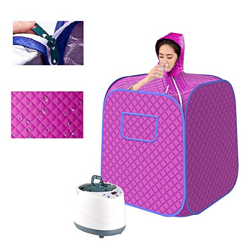 S SMAUTOP Home Sauna Steamer and Tent, Foldable Four-Layer Insulation Waterproof Sauna Tent and 2L 1000W Sauna Steam Generator for Home Sauna Bath, Sweating, Slimming, Detoxify, Body Therapy