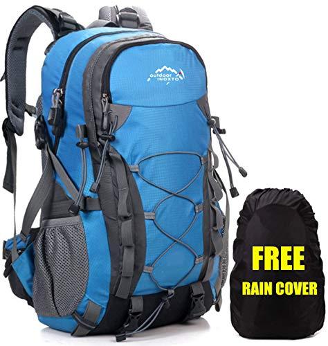 Meisohua Wasserdichter Rucksack 40L Leicht, Erwachsene Wanderrucksack Manner Trekkingrucksack Frauen Outdoorrucksack für Klettern Camping Reiten Reisen Freizeit, für 15.6 Zoll Laptop (Blau)
