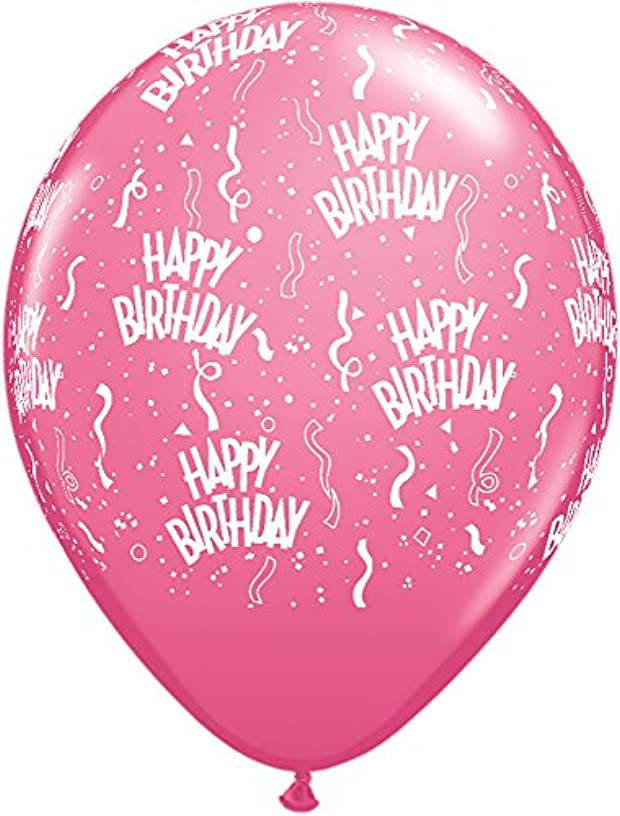 Pioneer Balloon Company 100 Count Birthday-A-Round Ink Balloon, 11