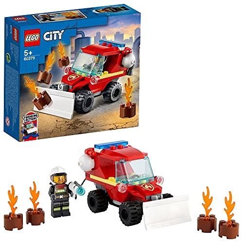 LEGO 60279 City LeCamiondesPompiers avec Un Pompier Miniature pour Les garçons et Les Filles de 5 Ans