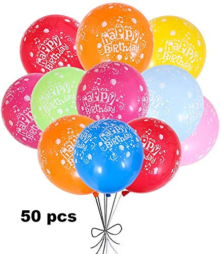 Jiahuade Geburtstagsluftballons 50 ,Macaron Luftballons,Partyballons Kinder,Farbige Ballons,Kindergeburtstag,Partyballon,Latex Ballons Groß,Weihnachten, Brautgeschenke, Baby-Duschen
