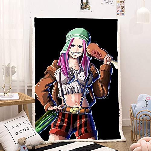 dgdgd One Piece Jewelry Bonney Holding Wine Meat Anime Blanket Quilt 3D Printed Soft Flannel Cashmere Plush Fleece Sherpa Throw Blanket Gift for Anime Fans Kids and Adults (120cm × 150cm,Cashmere)