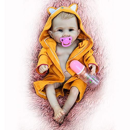 20 Zoll Reborn Baby-Puppen, Sieht Aus, DASS Die Reale Baby Doll, Handgemachte Babys Lebensechten Silikon-Vinyl Newborn Weiche Puppe Für Kinder Spielzeug