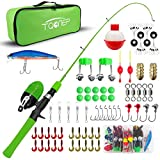 TQONEP Kids Fishing Pole,with Spincast Fishing Reel Tackle Box for Boys, Girls, Youth, Portable...