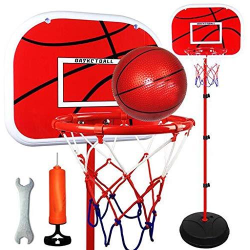 WENYAO Eisenrahmen-Basketballkorbset für Kinder - Höhenverstellbarer Basketballständer mit klappbarem Netz, Innen- und Außenklappbare tragbare Aufhängung Free Punch Kunststoff-Basketballbretter