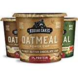 Kodiak Cakes Instant Oatmeal Cup Variety Pack: Peanut Butter Chocolate Chip, Maple & Brown Sugar, & Chocolate Chip