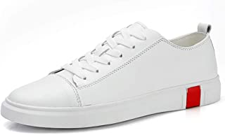 ZUAN Fashion Sneaker for Men Sports Shoes Lace Up Style PU Leather Simple Virtuous Color Classical Small White Shoes