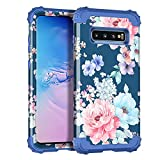 Rancase for Galaxy S10 Case,Three Layer Heavy Duty Shockproof Protection Hard Plastic Bumper +Soft Silicone Rubber Protective Case for Samsung Galaxy S10,Navy Blue
