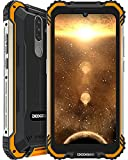 DOOGEE S58 Pro (2021) Móvil Resistente 6GB+64GB, 5180mAh, Cámara Triples 16MP+Cámara Frontal 16MP Teléfono Libre 4G Android 10, 5.7 Pulgada IP68/IP69K Móvil Antigolpes, NFC/GPS, Naranja