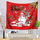 N / A Feliz Navidad y próspero año Nuevo, tapices, Decoraciones de Pared, tapices de Pared, Mantel de Fondo de Tela A7 150x200cm