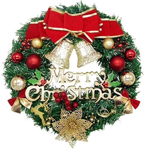 Haucy Weihnachtskranz, Rote Freude Weihnachtstürkranz Weihnachtsschmuck, weihnachtsdeko aussen, für Weihnachten, Advent, Türkranz, 30CM