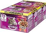 Whiskas 1 + Katzenfutter Ragout – Klassische Auswahl in Gelee – Hochwertiges Nassfutter mit wichtigen Inhaltsstoffen – 2 x 24...