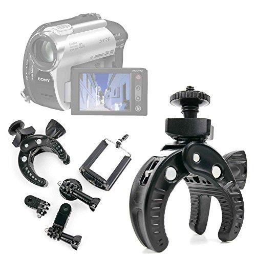 DURAGADGET Kit Supporto Bicicletta per videocamere Panasonic HC-V110   HC-V520   Twin Camera HC-W850EG-K   X900M   Kenuo HD 1080P 16MP