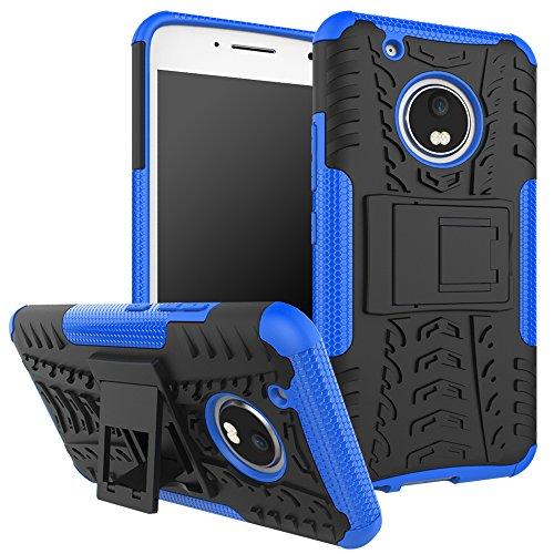 OEAGO Moto G5 Plus Case, Motorola Moto G Plus (5th Generation) Case, [Shockproof] Tough Rugged Dual Layer Protective Case with Kickstand for Motorola Moto G5 Plus (2017) - Blue