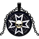 Générique Collar Colgante símbolo Cruz Caballero Templario, de Calavera.
