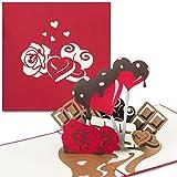 "PaperCrush® Pop-Up Karte ""Sweet Love"" - 3D..."
