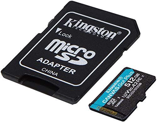 Kingston GO! Plus Works for DJI Matrice 200 Series 512GB MicroSDXC Canvas Card Verified by SanFlash. (170MBs Works with Kingston)