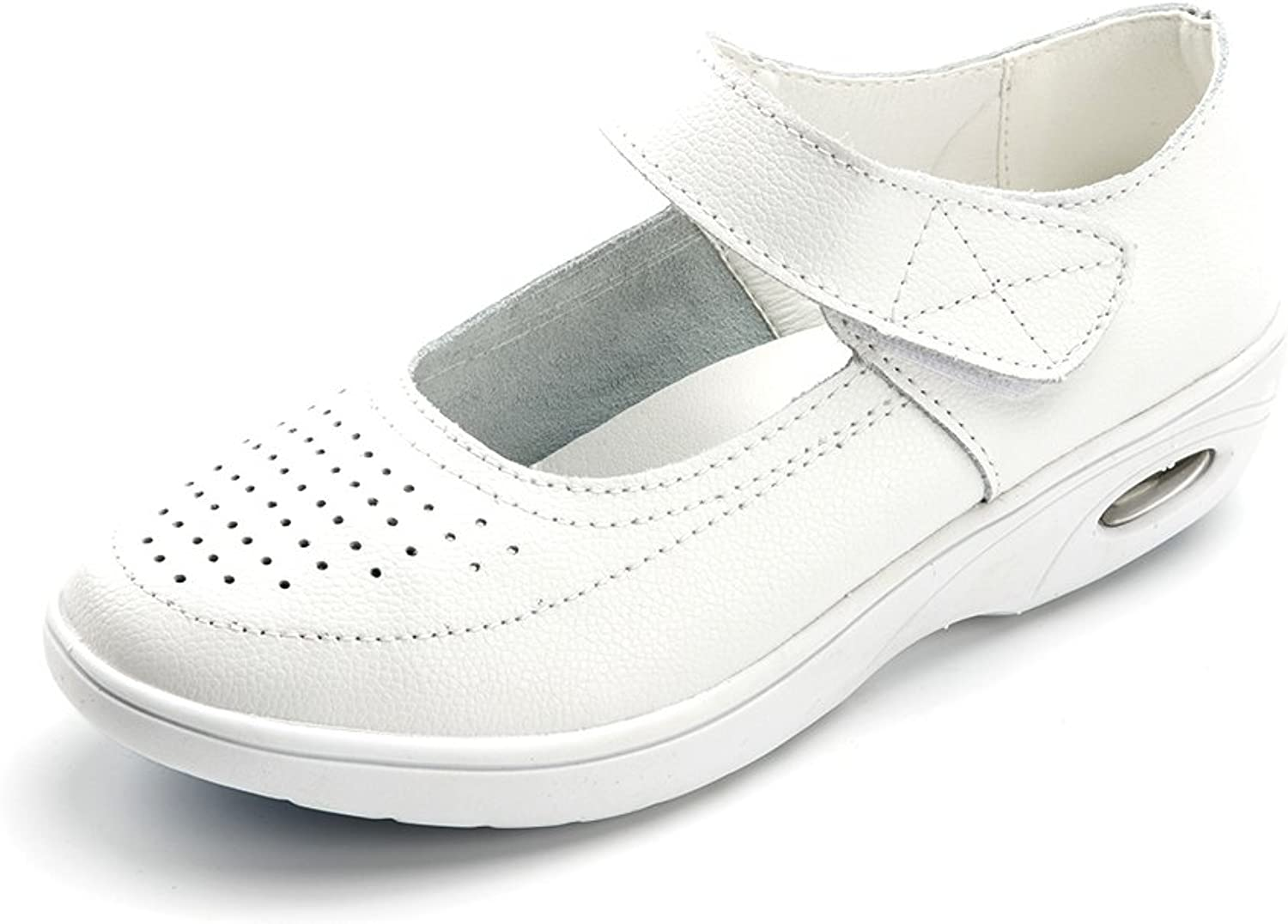 Vivident Genuine Leather Medical Loafers Soft Nurse shoes Professional Working Women Flats