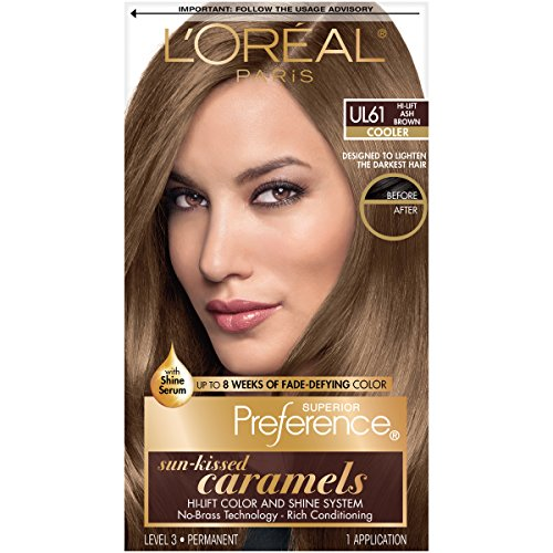 L'Oreal Paris Superior Preference Fade-Defying + Shine Permanent Hair Color, UL61 Ultra Light Ash Brown, Pack of 1, Hair Dye