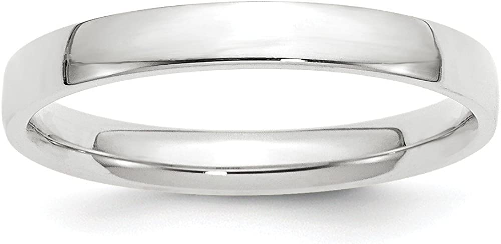 10 White Gold 3mm Comfort Fit Wedding Ring Band Size 11.5 Classic Fashion Jewelry For Women Gifts For Her