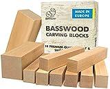 BeaverCraft BW10 Basswood Carving Blocks Set - Basswood for Wood Carving Balsa Wood Blocks - Whittling Wood Carving Wood Blocks for Carving