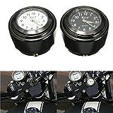 Viviance Moto Vélo Guidon Mont Cadran Horloge Montre 7/8Inch 1 Pouce Universel pour...