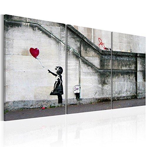 murando - Cuadro en Lienzo 120x60 - Impresión de 3 Piezas Material Tejido no Tejido Impresión Artística Imagen Gráfica Decoracion de Pared Banksy 020115-9