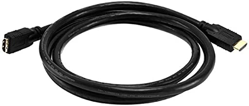 Monoprice Commercial Series Premium 6ft 24AWG CL2 High Speed HDMI Cable Male to Female Extension - Black