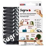 Sugru Mouldable Glue de tesa, adhesivo fuerte multiusos, envase de 8 (8 x 3,5 g) en Negro