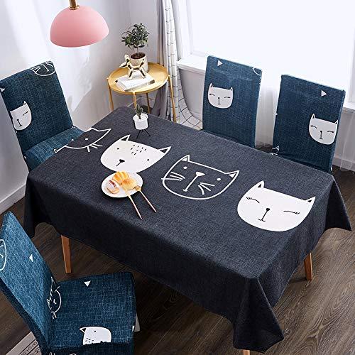 xurupeng Wasserdicht Verbrühungsschutz Ölfest Einweg Rechteckige Couchtischdecke Tischdecke Baumwolle Leinen Tischdecke