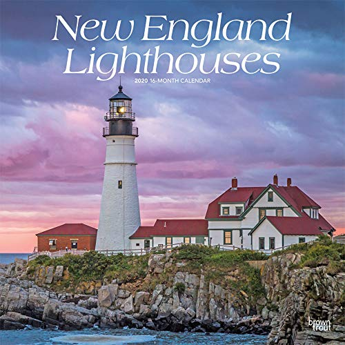 New England Lighthouses 2020 12 x 12 Inch Monthly Square Wall Calendar, USA United States of America East Coast Scenic Nature (English, French and Spanish Edition)