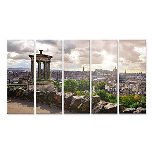 Cuadro en lienzo Vista panorámica del horizonte de Edimburgo Escocia Reino Unido Cuadros Modernos Decoracion Impresión Salon