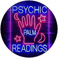 Psychic Palm Readings Dual Color LED看板 ネオンプレート サイン 標識 青色 + 赤色 210 x 300mm st6s23-i3464-br