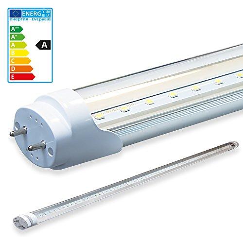 LEDVero 1x SMD LED Röhre/Tube Leuchtstoffröhre T8 G13 transparent Abdeckung - 160 cm, 28 W, 2800lm- montagefertig, Lichtfarbe:Warmweiß