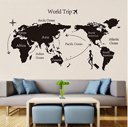 Rureng Voyage MondeAmovible Autocollants Art Décoration De La Maison Toile De Fond Papier Peint Stickers Muraux140Cm * 80Cm