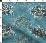 Meeresschildkröte, Meer, Schildkröte, Blau, Grün, Ozean,